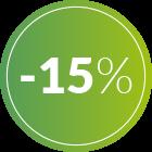 bollino 15% di sconto