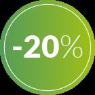 bollino 20% di sconto