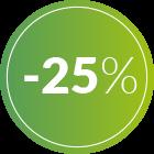 bollino 25% di sconto