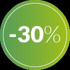 bollino 30% di sconto