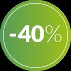 bollino 40% di sconto