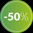 bollino 50% di sconto