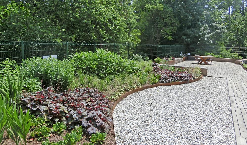 Allestimento di giardino realizzato da Il Germoglio