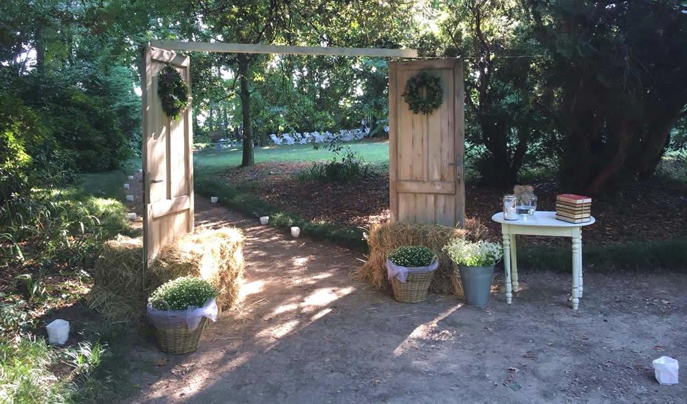 Allestimento percorso in giardino realizzato da Il Germoglio