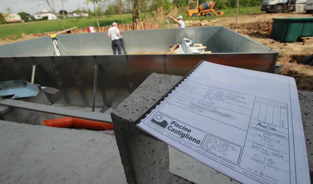 Progetto e costruzione piscina da Il Germoglio