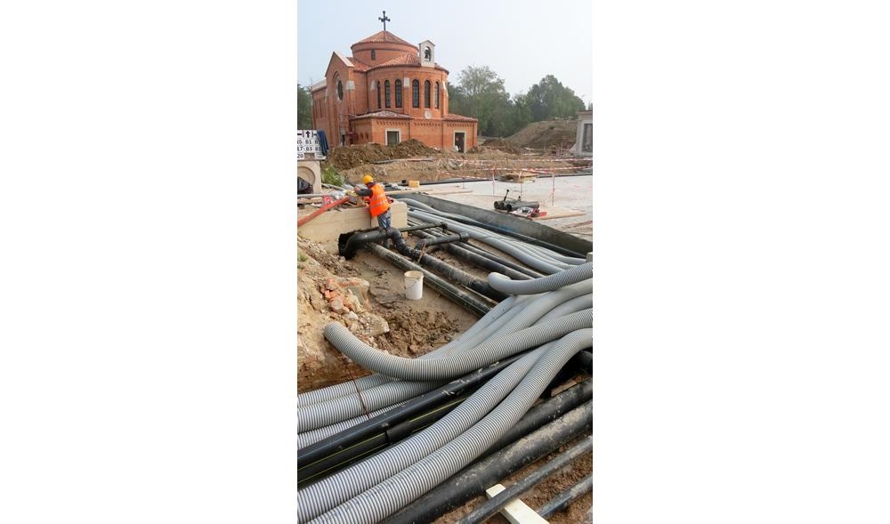 Dettaglio materiale per impianto di irrigazione realizzato da Il Germoglio
