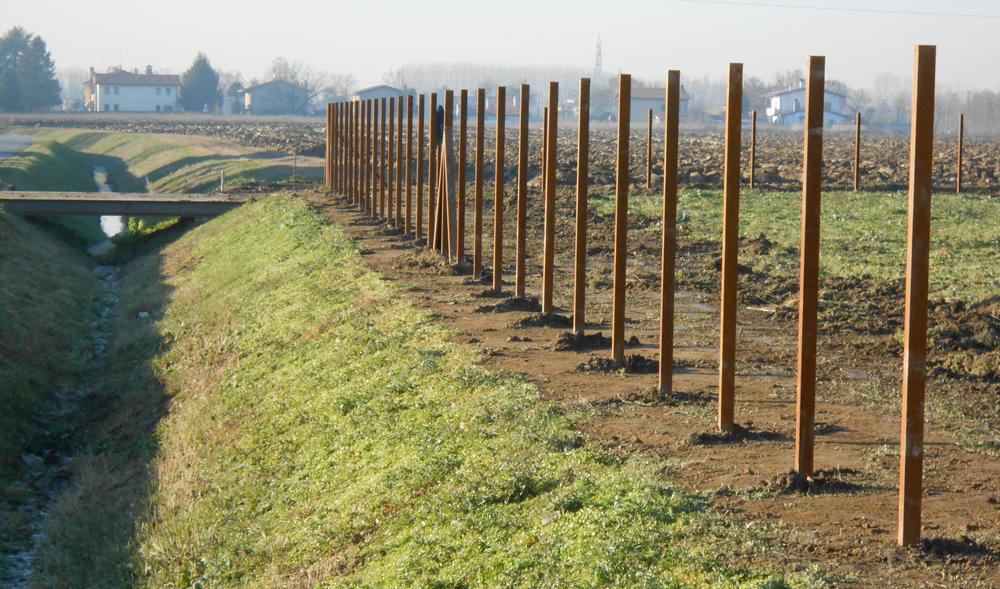 Infrastruttura lungo argine realizzata da Il Germoglio