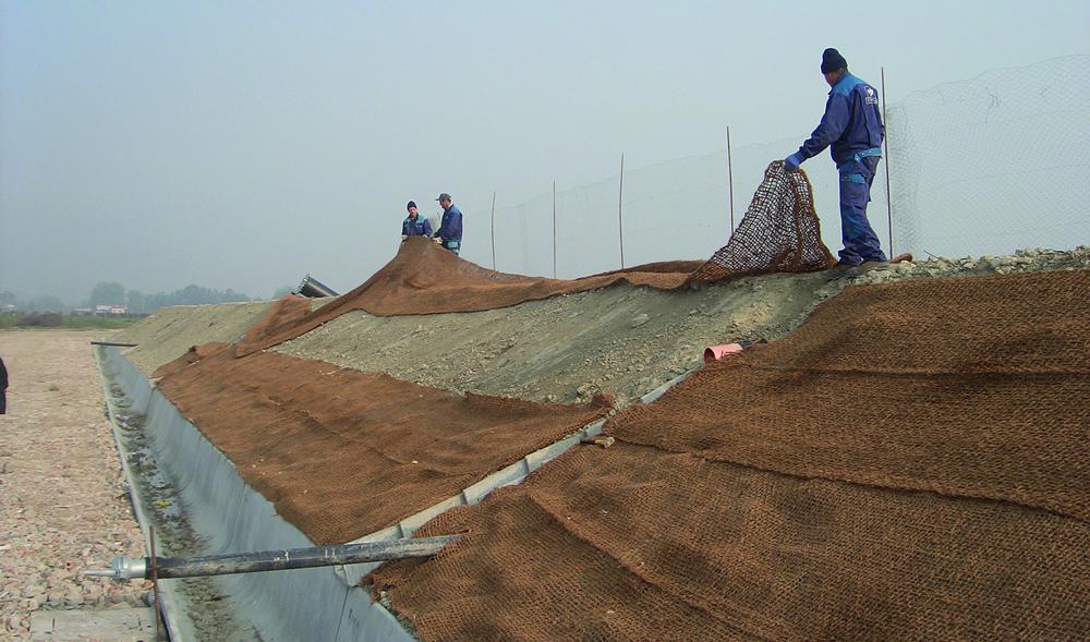 Opere di ingegneria naturalistica per messa in sicurezza degli argini
