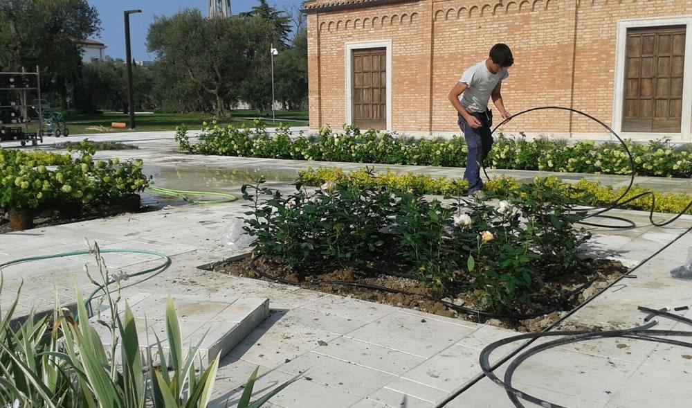 Impianto d'irrigazione realizzato da Il Germoglio