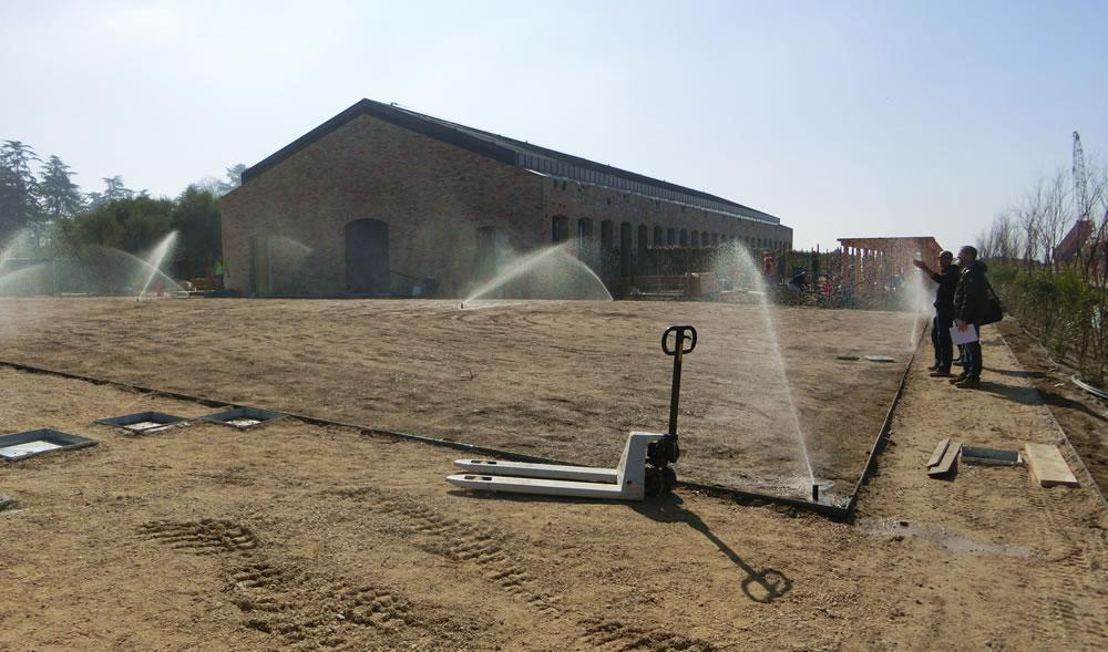 Impianto d'irrigazione attivo realizzato da Il Germoglio