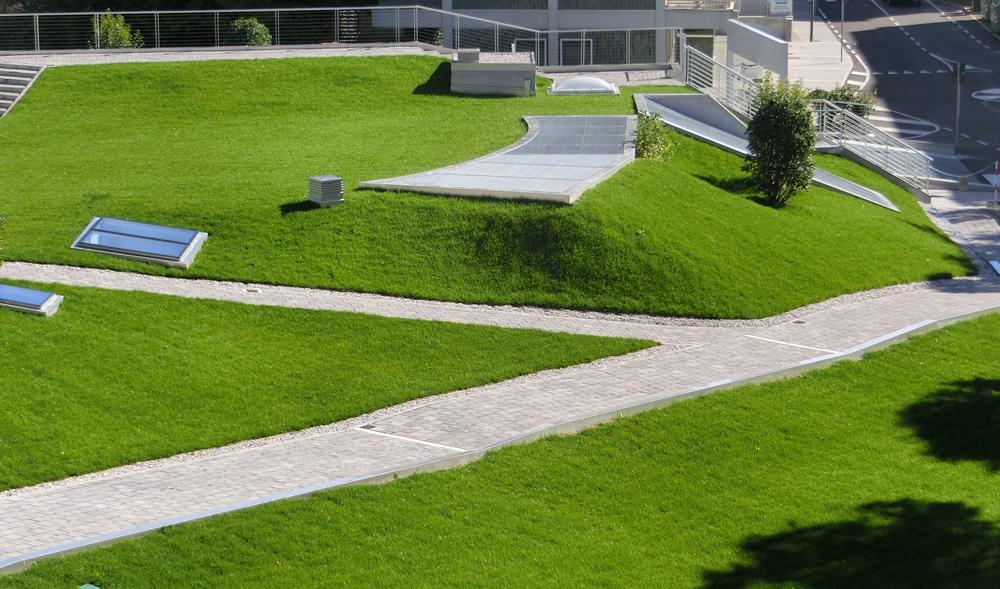 Veduta del giardino pensile realizzato a Mestre (VE)