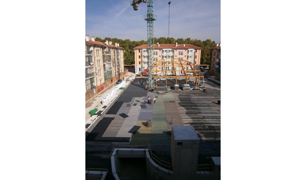 Vista dall'alto dei lavori al Portello