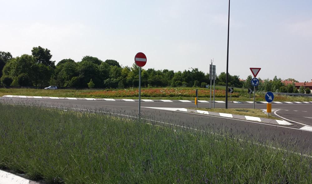 Panoramica del raccordo stradale a Mira - Dolo