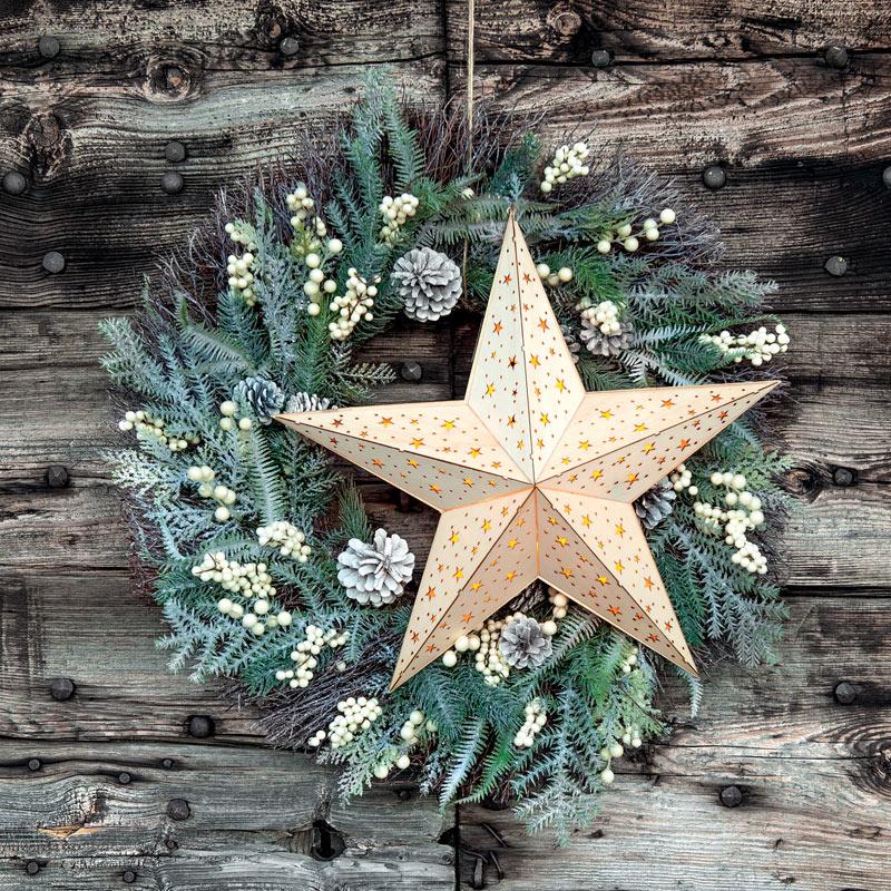 Fiori artificiali e ghirlande Natale Cover